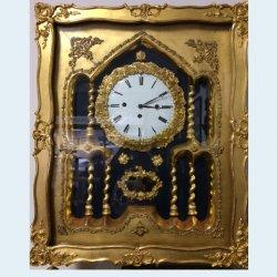 Rámové zlacené hodiny